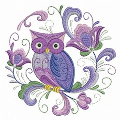 Rosemaling Owl Embroidery Designs Machine Embroidery