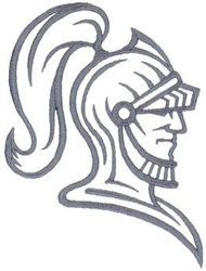 Knight Head Outline Embroidery Designs, Machine Embroidery ...