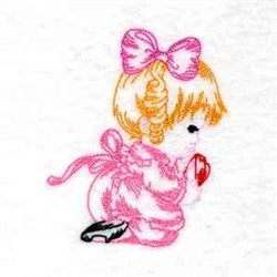 Valentine Girl Embroidery Designs Machine Embroidery