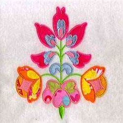 German folk art machine embroidery designs flowers for
