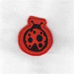Ladybug Hair Clip Embroidery Designs Machine Embroidery