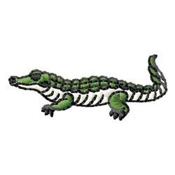 Preppy Alligator Embroidery Design Flat Stitch Applique  |Alligator Design Embroidery Floss