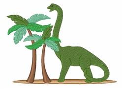 Brontosaurus Machine Embroidery Design
