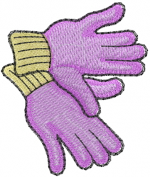 Gardening Gloves Embroidery Designs Machine Embroidery