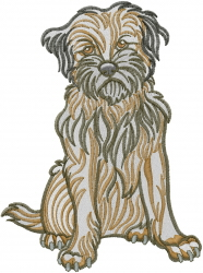 Border Terrier Sitting Embroidery Designs Machine