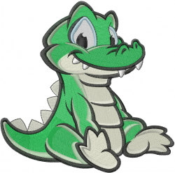 Alligator Embroidery Design – Daily Embroidery  |Alligator Design Embroidery Floss