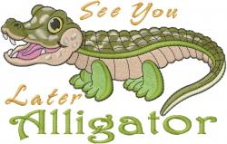 Alligator Baby Embroidery Designs, Machine Embroidery ...  |Alligator Design Embroidery Floss