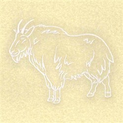 mountain goat outline embroidery designs machine