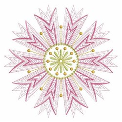 Rippled Pink Flower Embroidery Designs Machine Embroidery