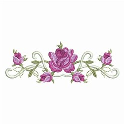 Elegant Roses Border Embroidery Designs, Machine ...