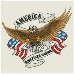 American Eagle Banner Embroidery Designs Machine