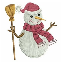 Broom Snowman Embroidery Designs Machine Embroidery