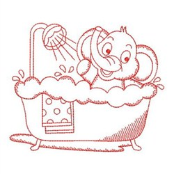 Redwork Bath Time Cuties Embroidery Designs, Machine ...