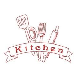 Redwork Kitchen Utensils Embroidery Designs, Machine ...