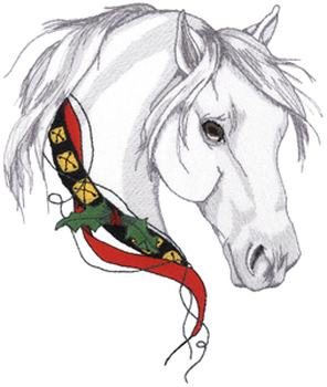 Christmas Embroidery Patterns Free.Christmas Horse Embroidery Design