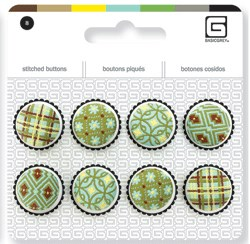 Embroidered Buttons - Seaspray