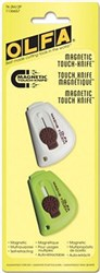Olfa Magnetic Touch Knife 2ct White and Lime Green