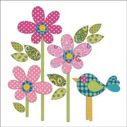 Daisy Dotz - Pink - Small Applique Pieces