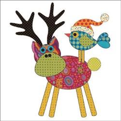 Santas Little Helpers - Deer & Chick-a-Dee Applique Pieces
