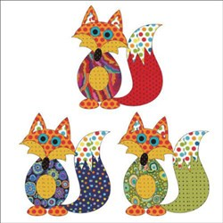 Frisky Fox Set Dotz Applique Pieces