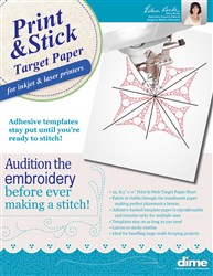 Print and Stick Target Paper