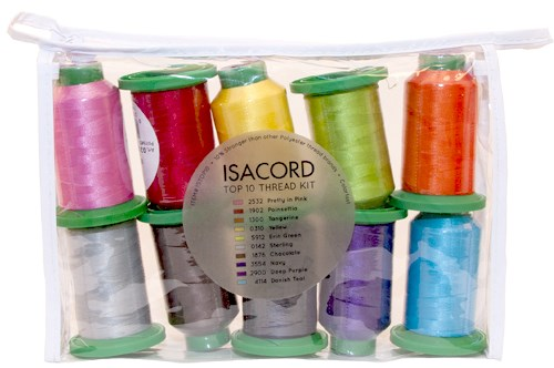 Isacord Top 10 Thread Kit By Isacord Embroidery Supplies And Tools