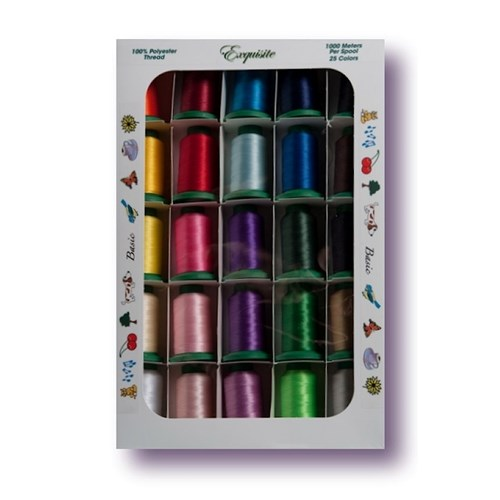 Basic Thread Colors By Exquisite Embroidery Supplies And Tools At