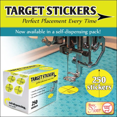 250 Pack Of Target Stickers By Designs In Machine Embroidery